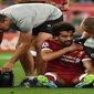 لحظة إصابة محمد صلاح خلال مباراة ليفربول وريال مدريد (فيديو)